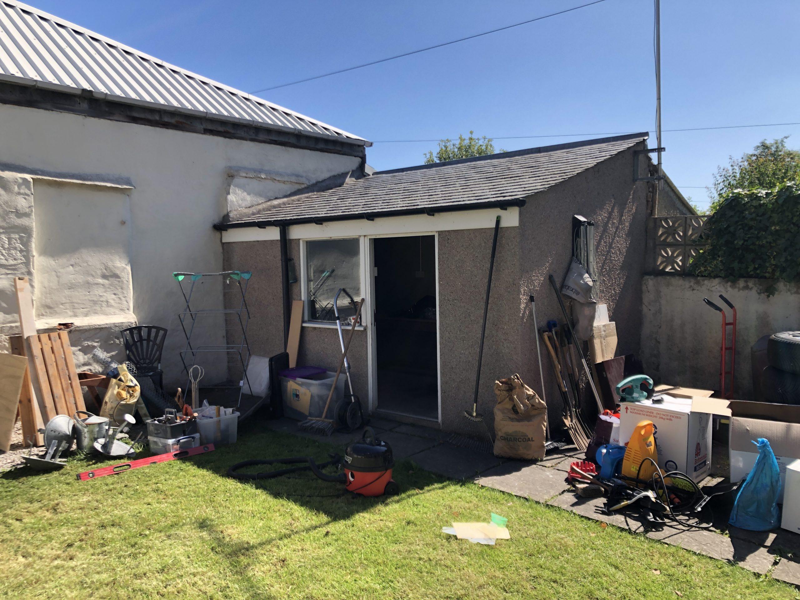 Zoe Wilson moving into her new workshop in her garden