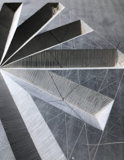 Slate with deep carved lines