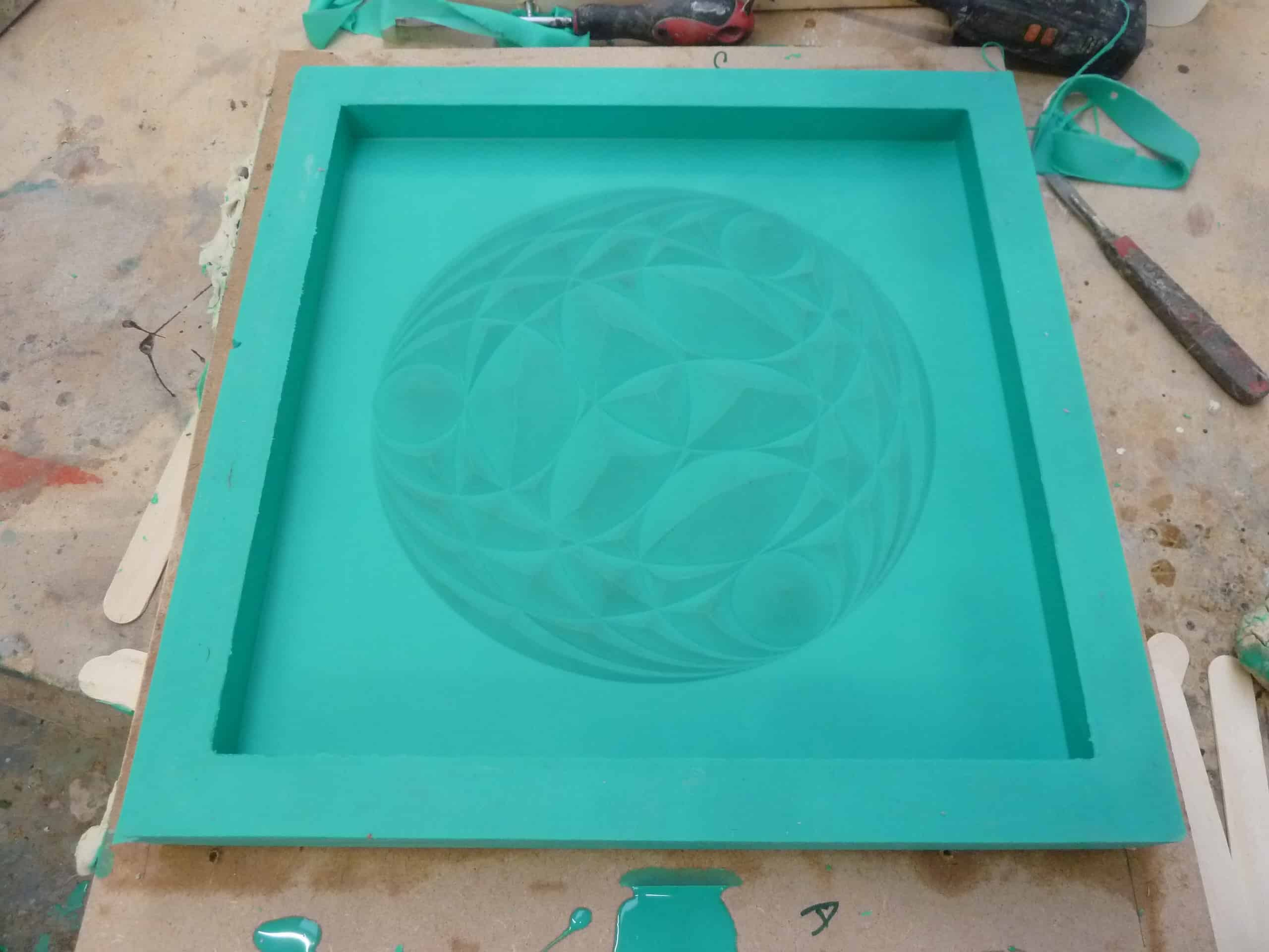 A greeen moul reshly made for Zoe Wilson by Articole Studios