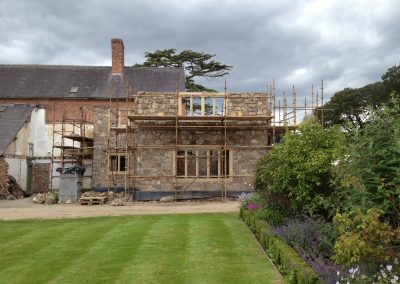 The beginnings of the extension to the house