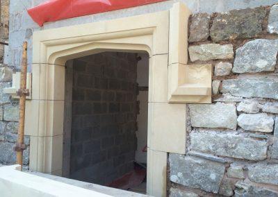 Stone door surround which Zoe made