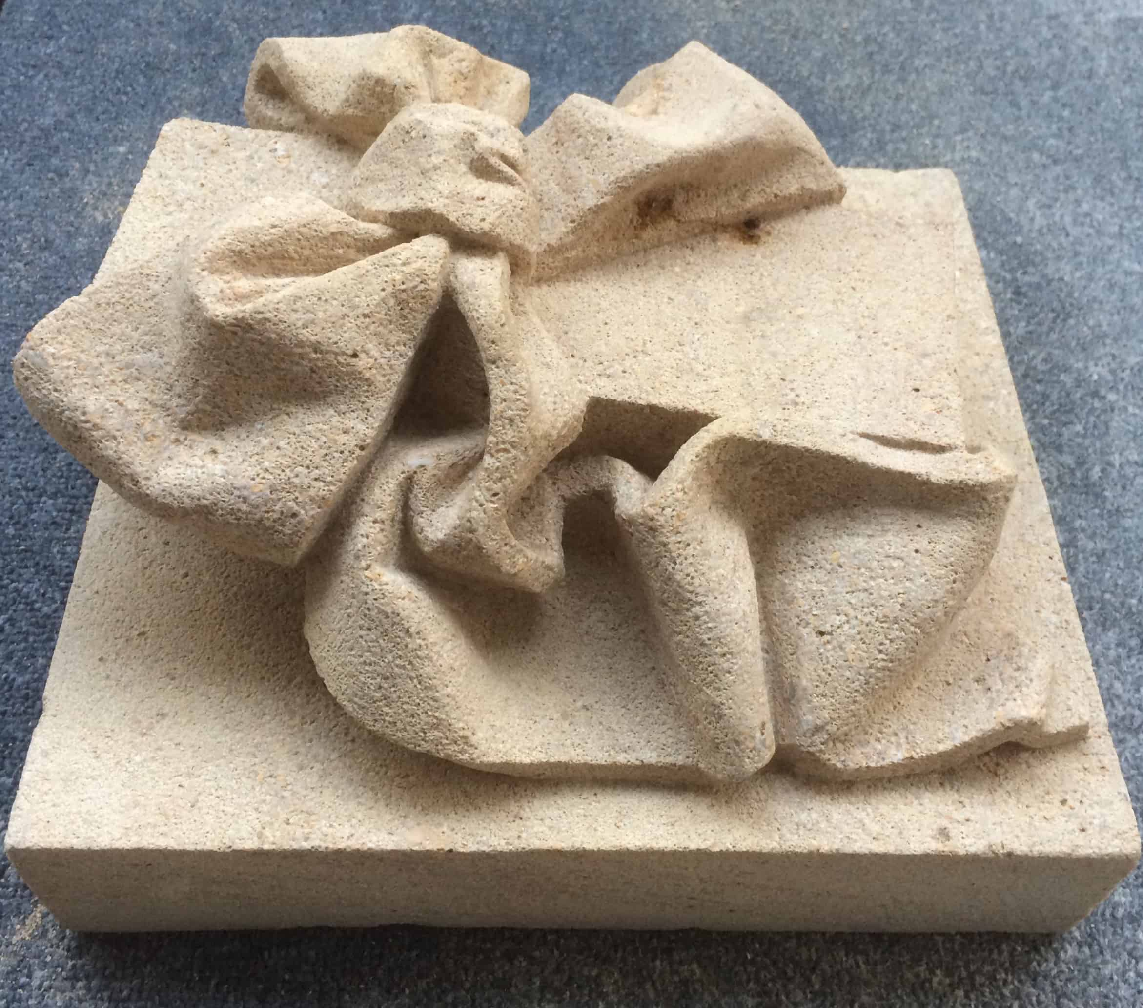 Bow carving in Bath stone