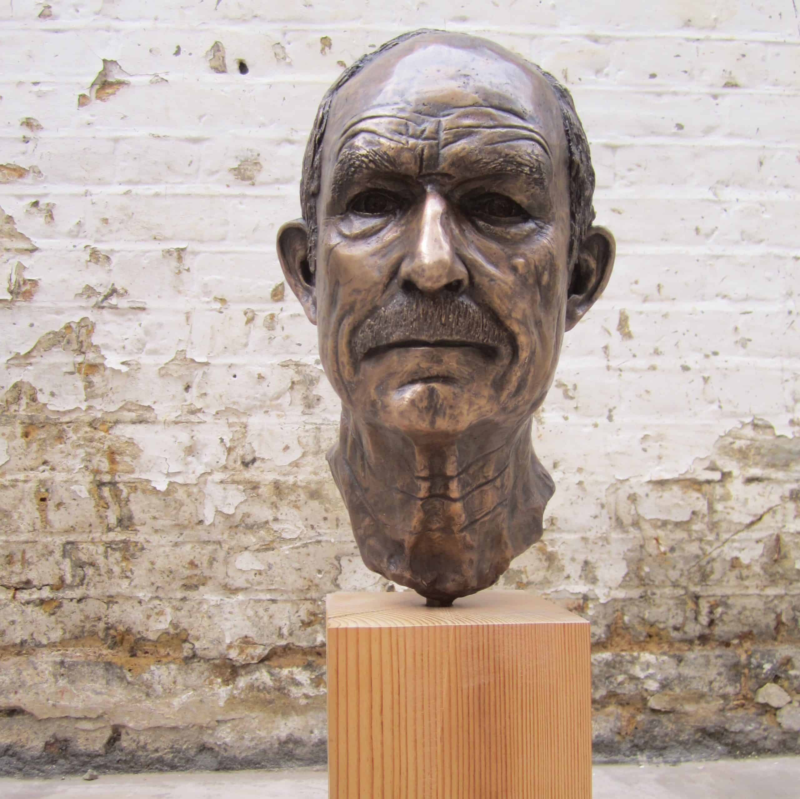 Portrait of my father modelled in clay and cast in bronze