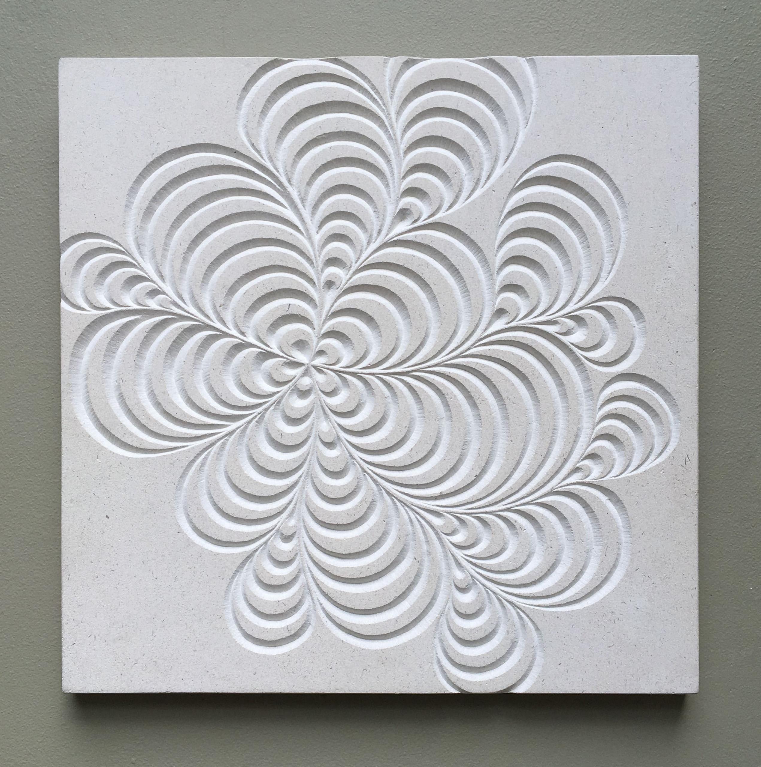 Zentangle doodle carving into Portland Limestone