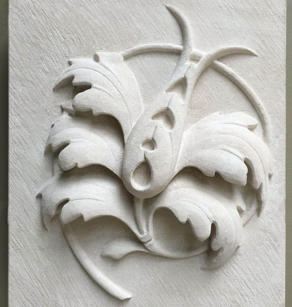 Study of an acanthus leaf carved