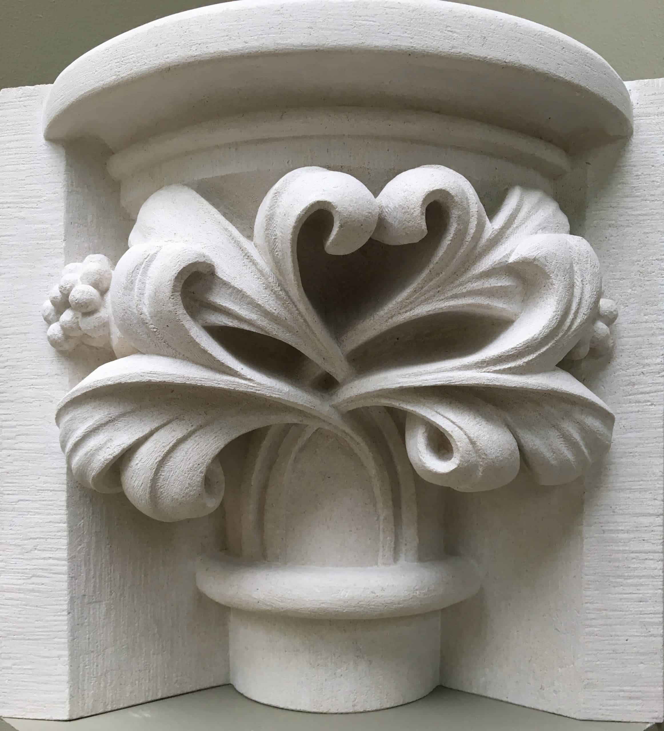 Capital carved in limestone