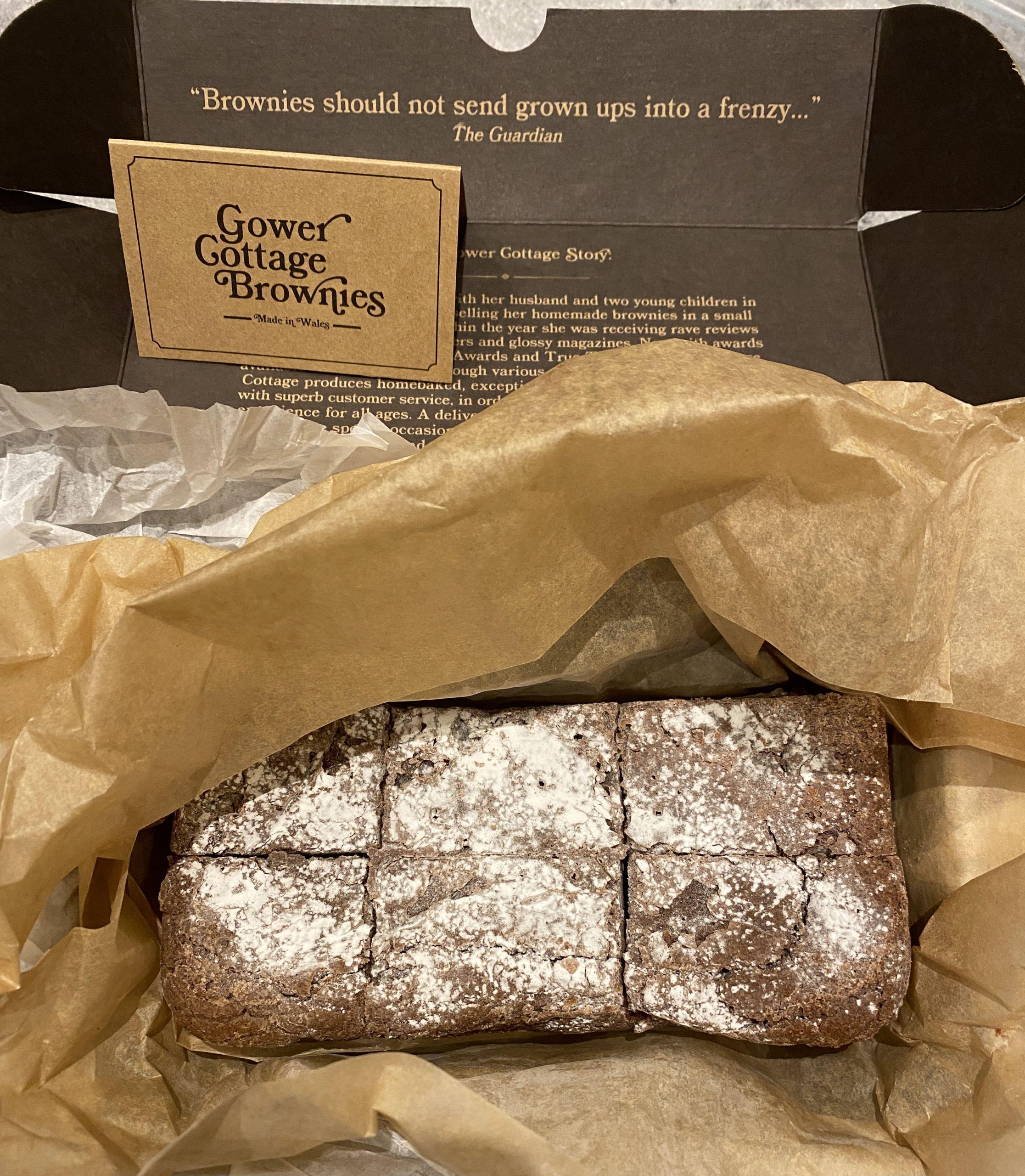 Brownies in a cardboard box